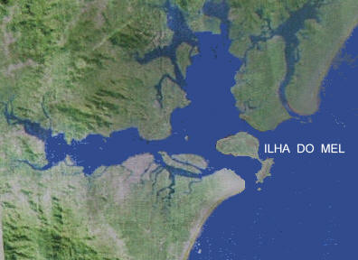 Ilha do Mel, na entrada da Baá de Paranaguá