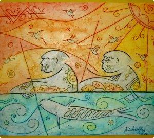 """""""Pescador em Dia de Sol"""", Adilson Shieffer."""