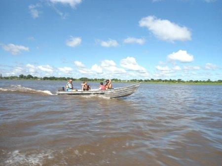 Braço mais largo (e mais raso), entre Isla Margarita e a margem paraguaia.